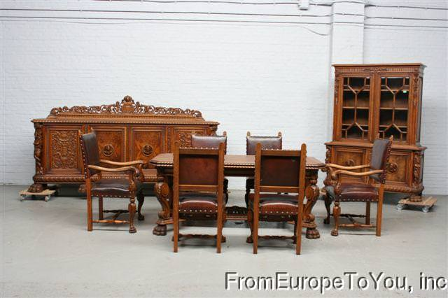 German Antique - Set din stejar masiv si castan