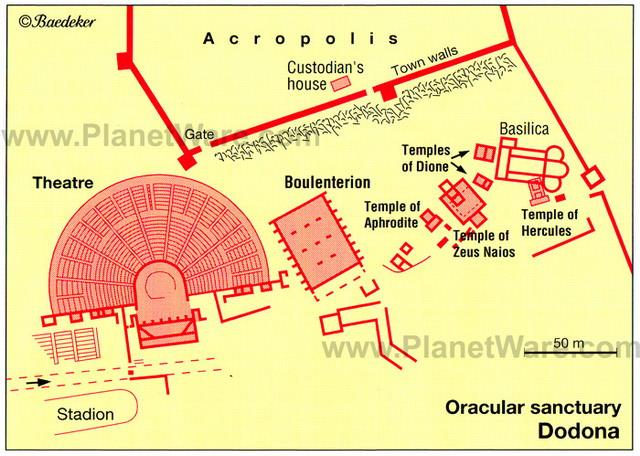 Harta oracolului din Dodoni