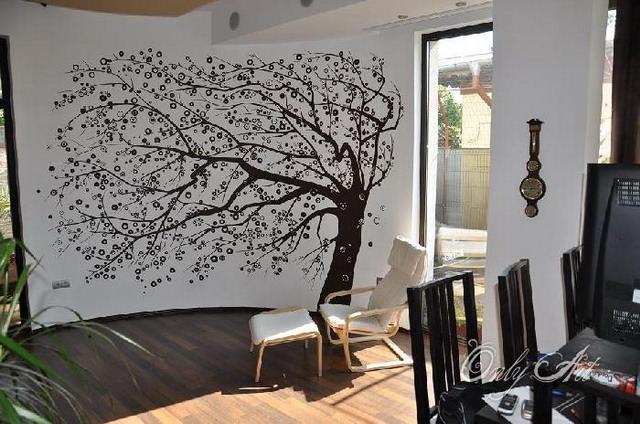 pictura pe perete - primavara