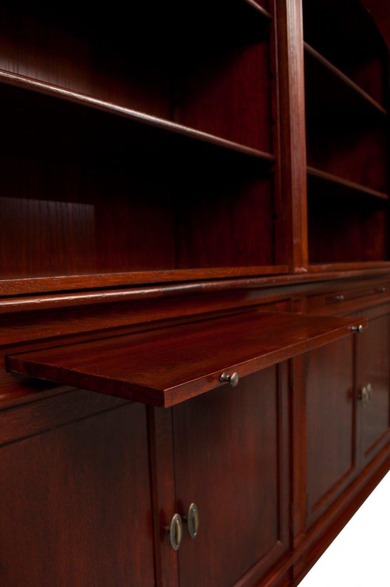 biblioteca din lemn masiv de stejar 100%