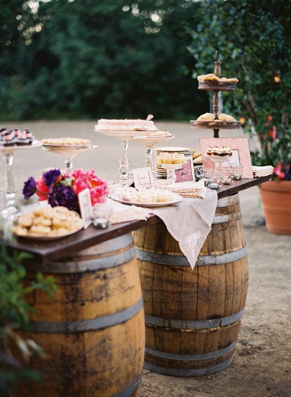 Bufet de nunta - aranjamente de gradina