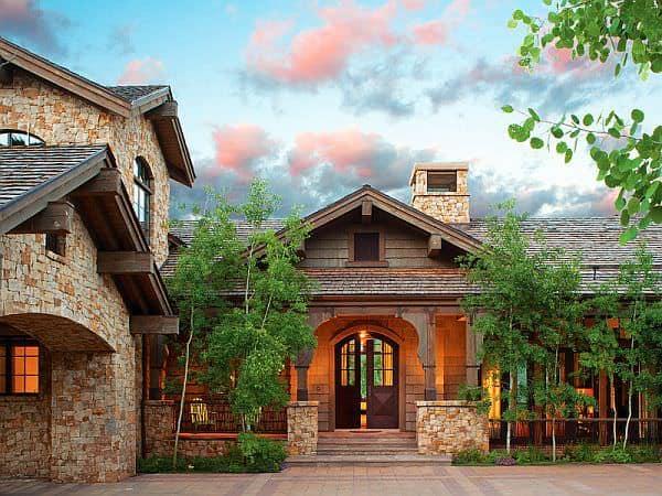 Casa din Colorado din piatra si lemn