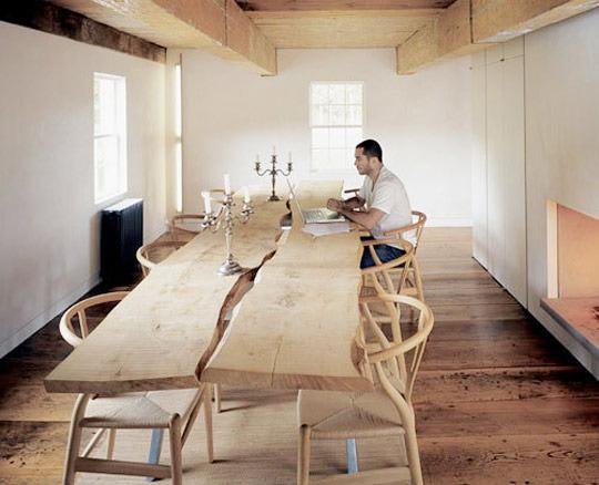 farmecul lemnului masiv - spațiu de dining organic