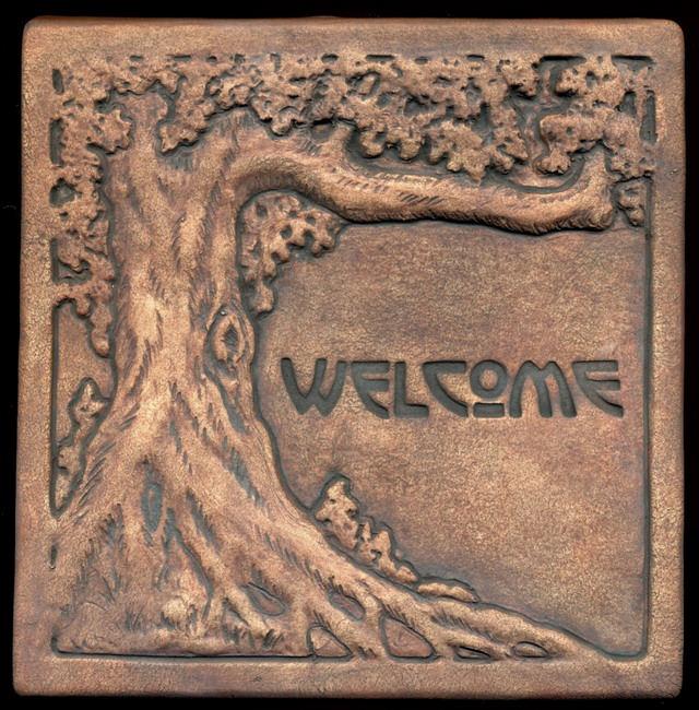 Placa decorativa din stejar - Welcome