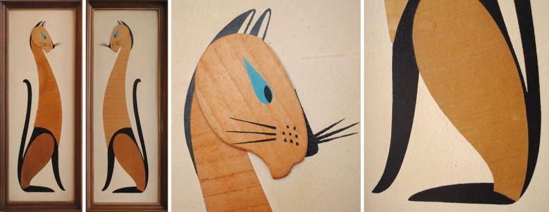 Art Deco pentru perete  - Pisici
