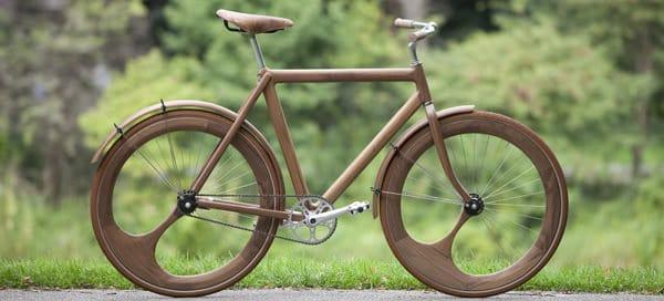 Bicicleta de lemn eco