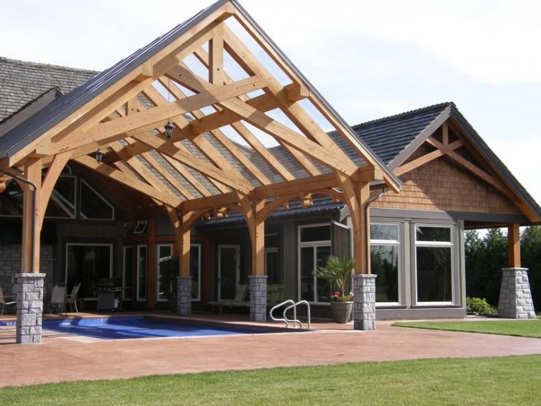 Structura pe cadre de lemn