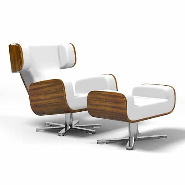 Wing Lounge Chair Lyx - ART DECO