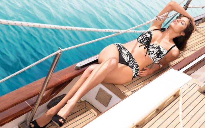 Punte Deck de yacht si costum de baie asortat reclama cu succes Garantat
