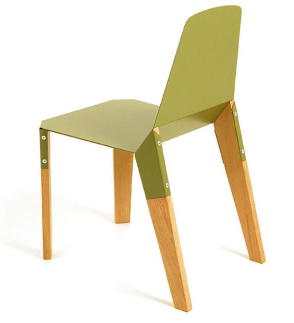 Otel si lemn combinat rezulta scaun