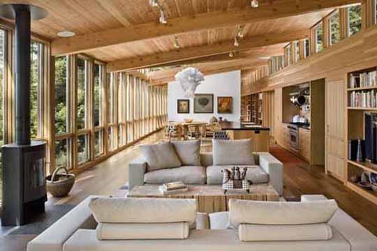 Idei de design interior cu lemn