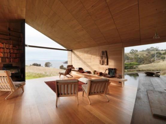 casa de vacanta din lemn Tasmania