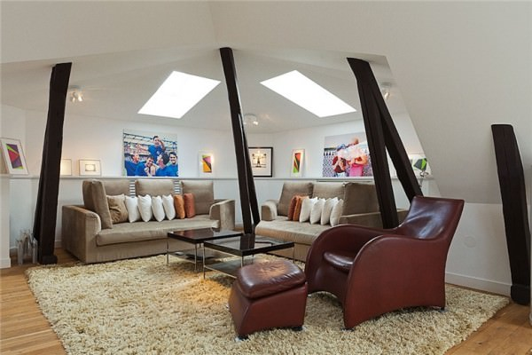 design scandinav -Apartament de mansarda