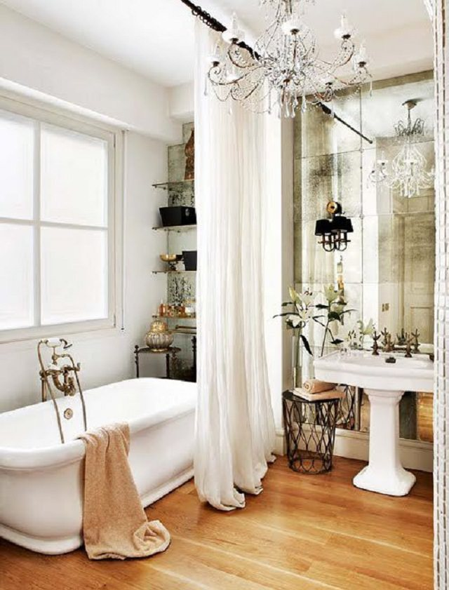 8 bai elegante si sofisticate for Small romantic bathroom ideas