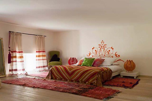 amenajare dormitor Decor etnic