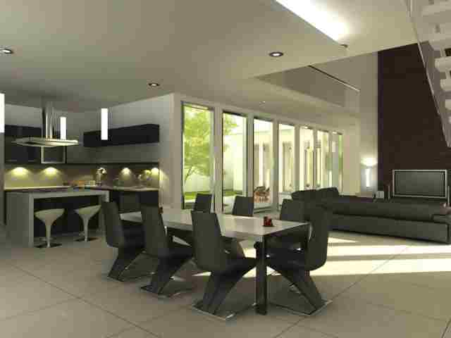 set modern de dining