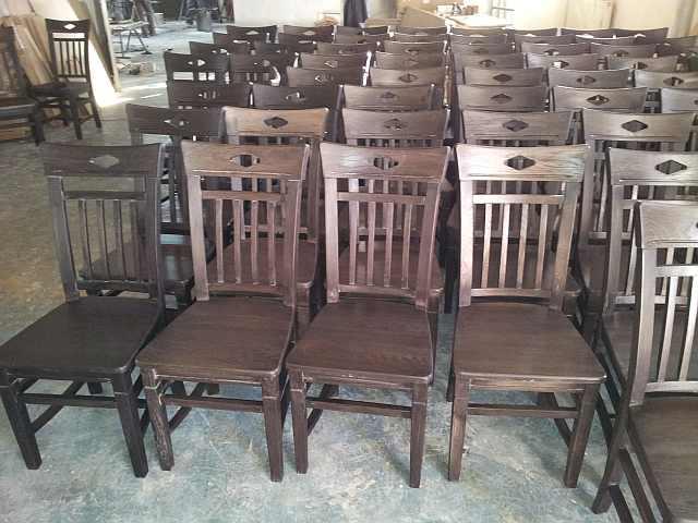 scaun din lemn - Imagini din fabrica de mobila