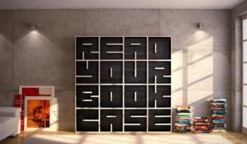 Fara comentarii Nr 6. Biblioteca cu text in design