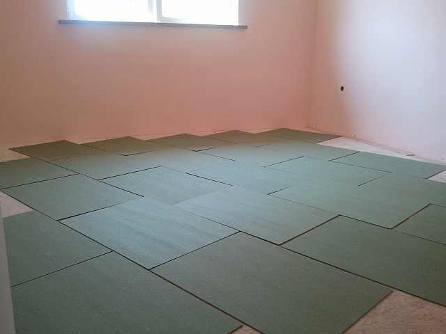 placi de izolatie pentru pardoseala - montaj podele