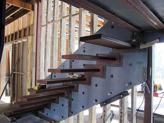 Scari Confectionate Structura Metalica Trepte Lemn Scara Cabana