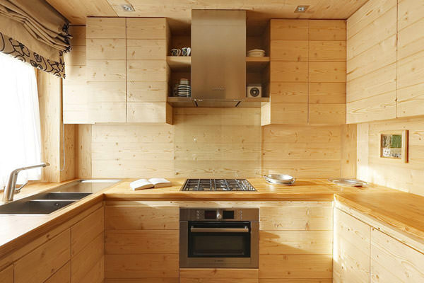 amenajare cu lemn masiv - apartament