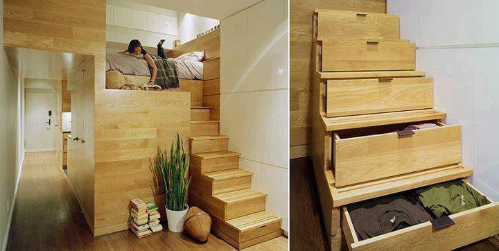 pat de lemn pentru copii