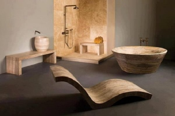 baie din lemn in stil minimalist