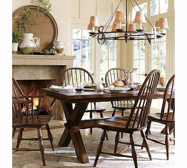 masa rustica cu scaune retro - schimbarea stilului
