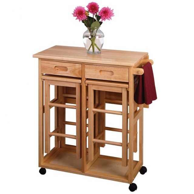 masuta plianta compacta cu doua scaune pentru servit masa