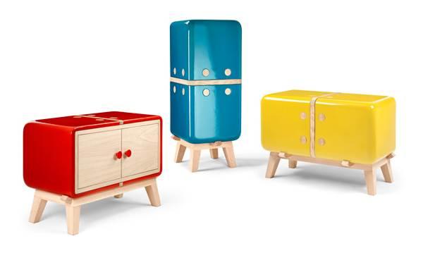 mobilier din ceramica si lemn