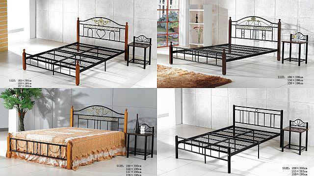 modele de paturi din fier forjat si lemn
