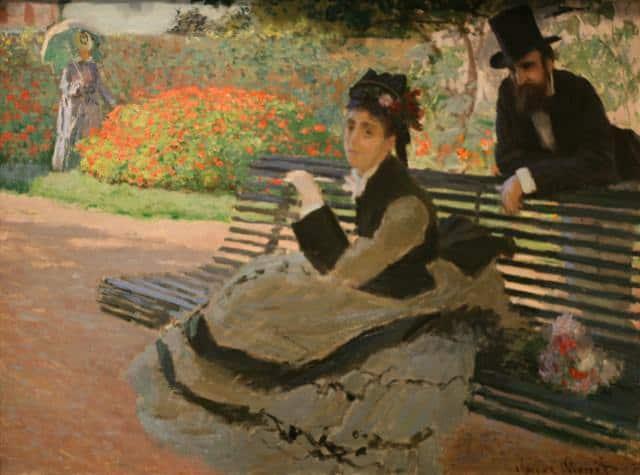Claude Monet - Banca in parc banca de lemn