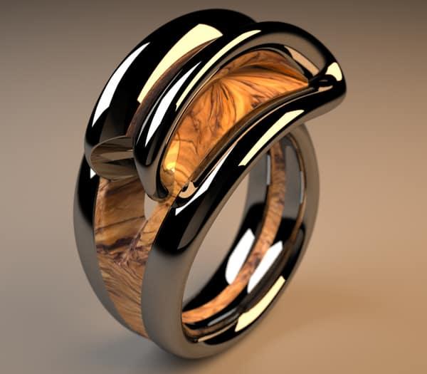 Fără comentarii Nr. 20 | Inel infinit din lemn si metal