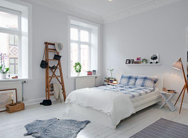 dormitor alb scandinav