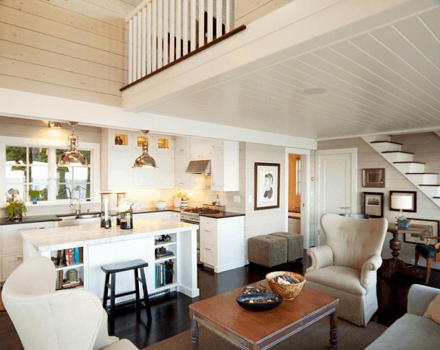 living room cu accente vintage casa de pe plaja