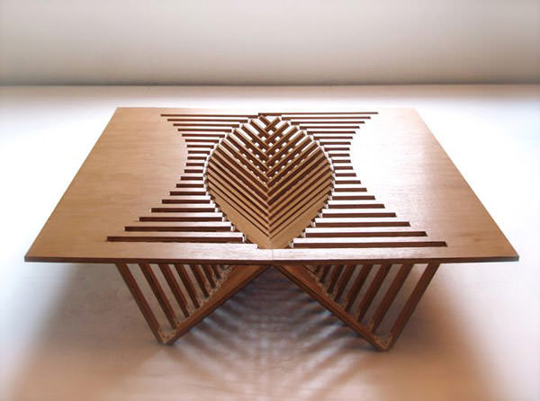 masa in forma de inima - Rising Table