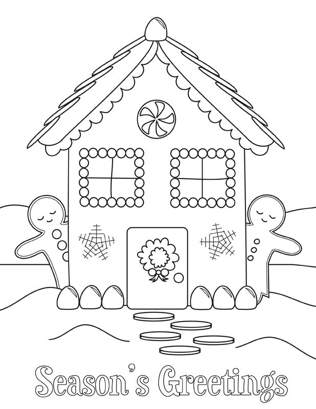 holiday themed coloring pages - photo #39