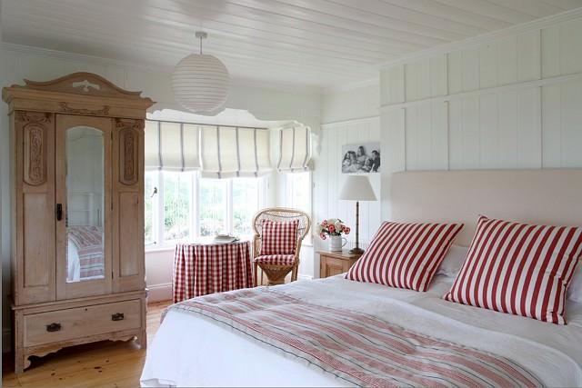 dormitor cu accente de culoare