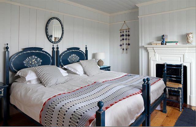 dormitor in tonuri acvatice