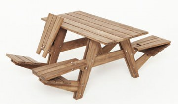 Bancă pentru picnic multifuncțională | Wouter Nieuwendijk
