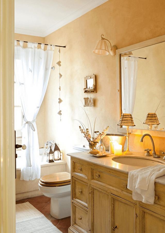 mobilier de baie din stejar masiv