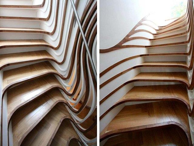 scari curbate scari interioare