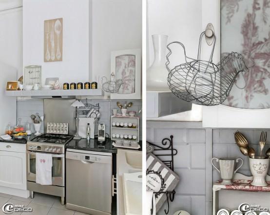 bucatarie moderna cu accente vintage