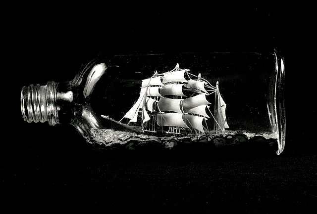 corabie în sticlă