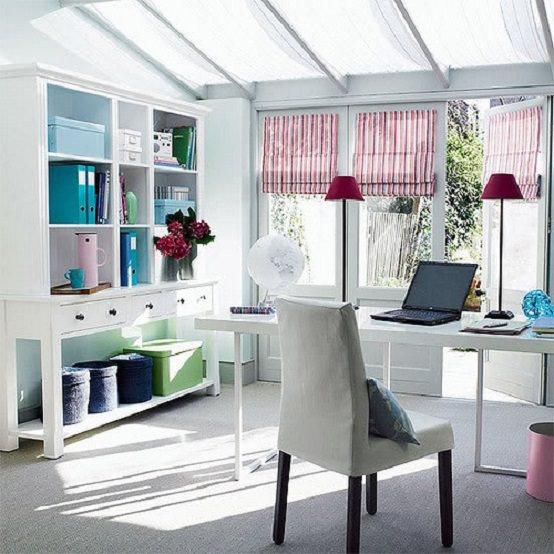 birou cu design feminin