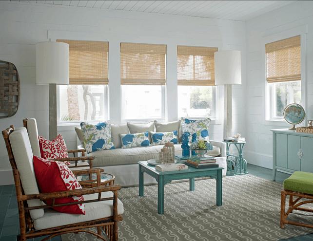 living room colorat de vara