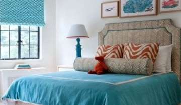 Albastrul, aduce vara in dormitorul tau