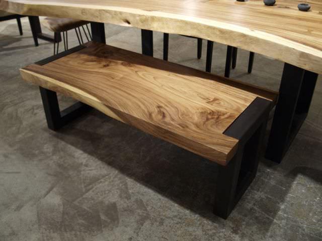 masa si banca din lemn masiv