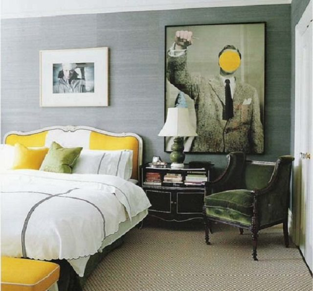 gri si galben pentru dormitor