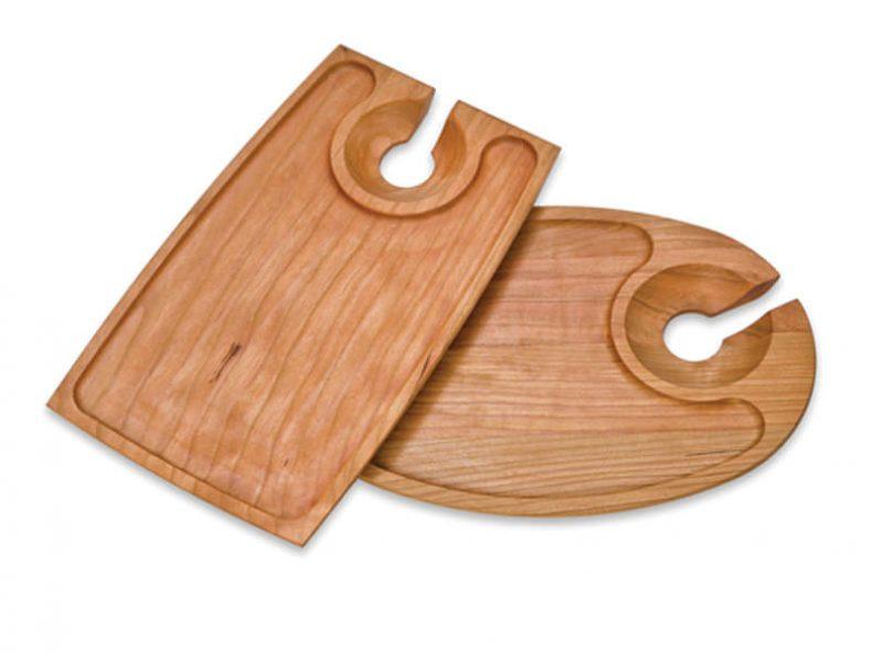 tava din lemn Farfurie din lemn pentru aperitive
